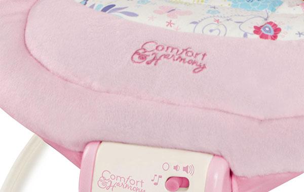 transat comfort harmony cradling bouncer rose